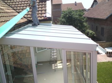 Skylight krov - staklena bašta privatna kuća, Zemun
