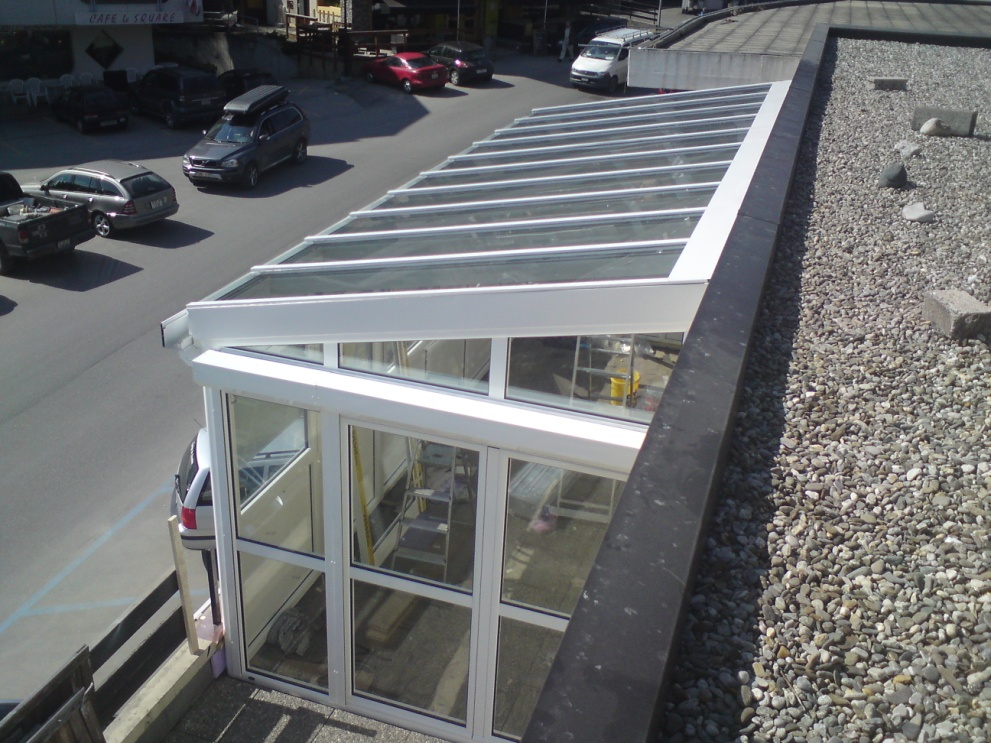 Skylight krov – staklena bašta-privatni stan, Švajcarska-1
