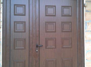 Ulazna vrata - imitacija drveta, privatna kuća, Zemun